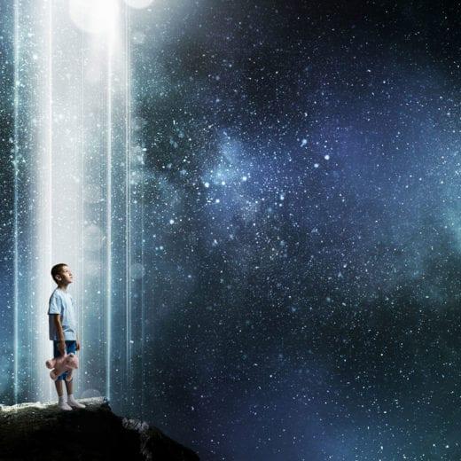 Stargazing boy