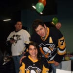 Anna Lindner with Pittsburgh Penguins star Malkin