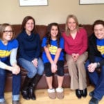 Anna Lindner with a few ladies from Team PHenomenal Hope