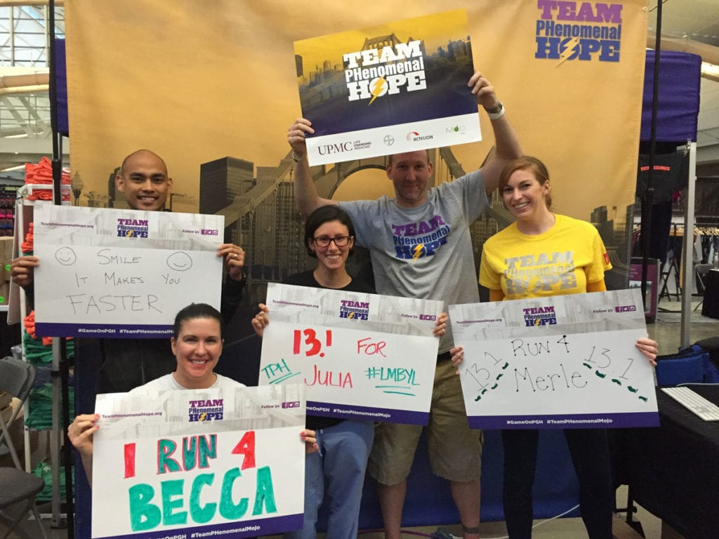 A photo from the Team PHenomenal Hope booth at the 2016 PGH Marathon Expo
