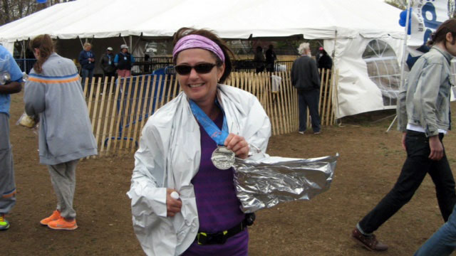 Rosanne Huber after her marathon