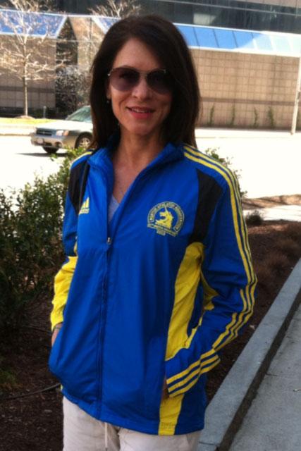 Monica Reisz blue blazer