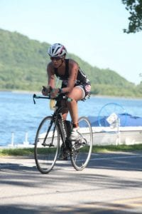 Monica Reisz cycling