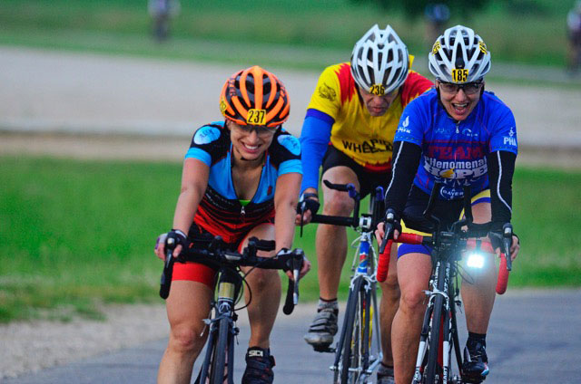 Pascale Lercangee at the National 24Hour Challenge UMCA Championship race, Middleville Michigan. 424miles 1st overall tie!
