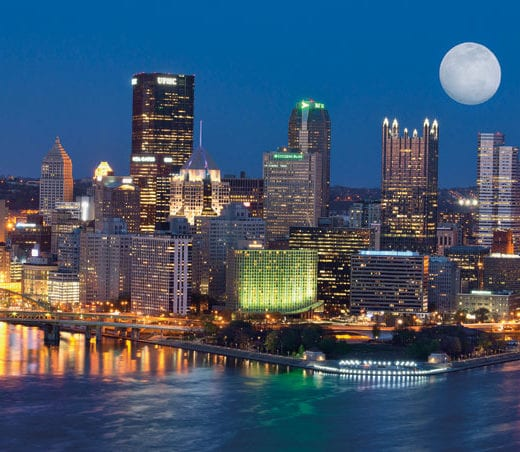 Pittsburgh Skyline: UPMC Breathing Breakthroughs
