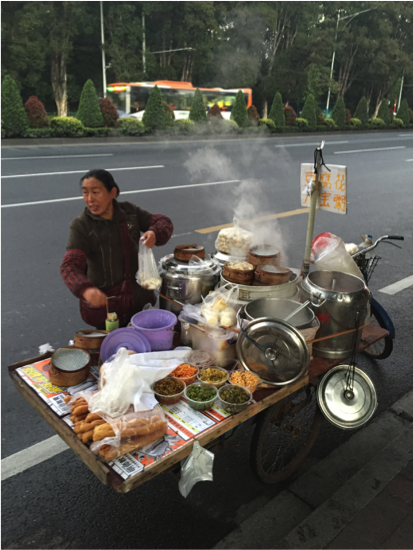 Cooking dumplings in Guangzhou, China