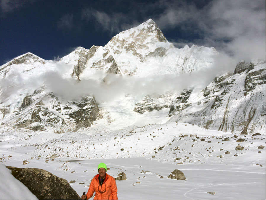 Eileen in Himalayan Mountains