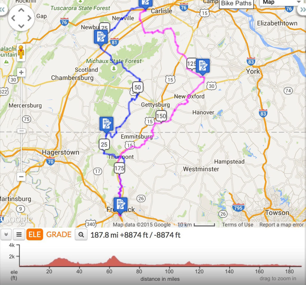 randonneuring 300km map