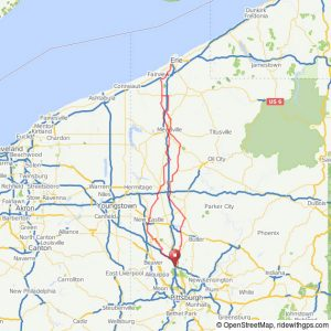 randonneuring 400km Map to Erie