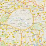 A map of Paris,France