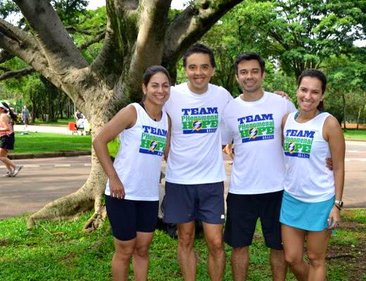 Team PHenomenal Hope BRasil's first race!