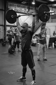 Christian Gabarda working out at a Crossfit gym