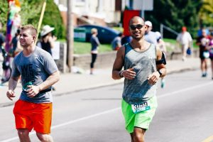 Christian Gabarda running in the Pittsburgh Marathon