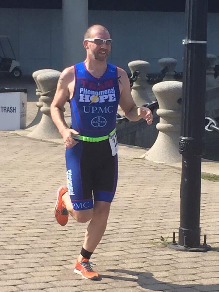 Dustin Wehler finishing cleveland triathlon