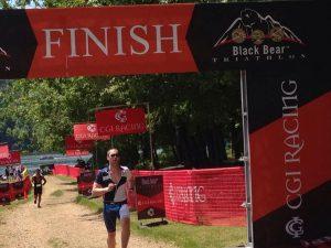 Nick Hamilton finish line
