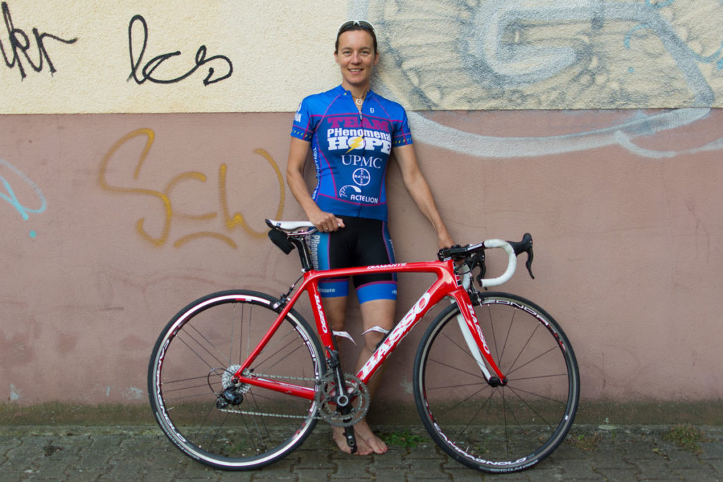 katrin and her race bike