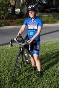 Kathleen Richardson with bike