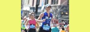 Monica midcourse in the 2016 Boston Marathon