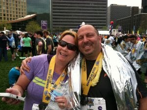 Dana Ivanco after the Pittsburgh Marathon