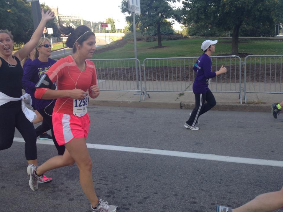 Kayla Frattini running in the Great Race