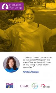 Patty George is racing for Ornah Levy
