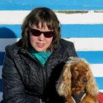 Wendy Vansteenkiste and a dog