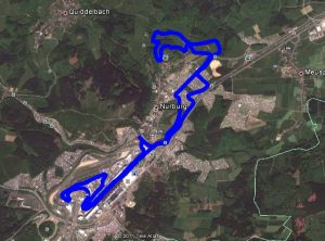 Arial view of the 2017 Rad am Ring course