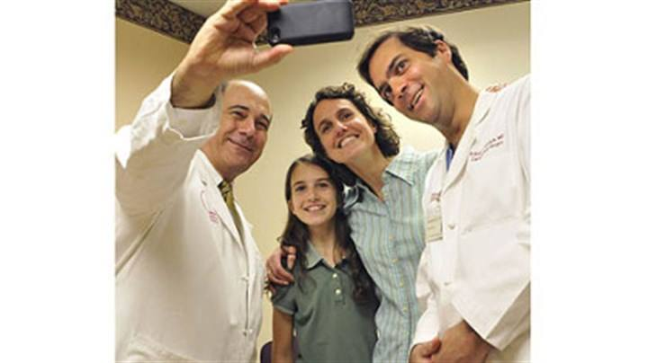 Jean Magazzu, Dr Raymond Benza, Dr Moraca, and Ms Magazzu