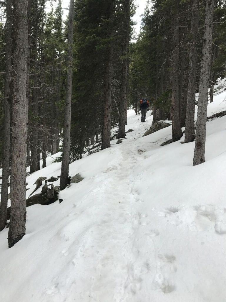 2017-pikes-peak-Jessy on Snowy Trail