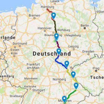 route map for the 2017 Tour of Germany