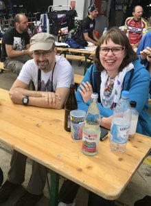 Wendy Vansteenkiste and her husband Eric at the 2017 Rad am Ring in Germany